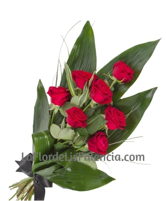 Ramo Funerario 7 Rosas Rojas Ramo De Flores Para Difuntos